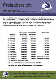 Download Preisliste Weidehütten